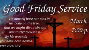 Good Friday Service 2018