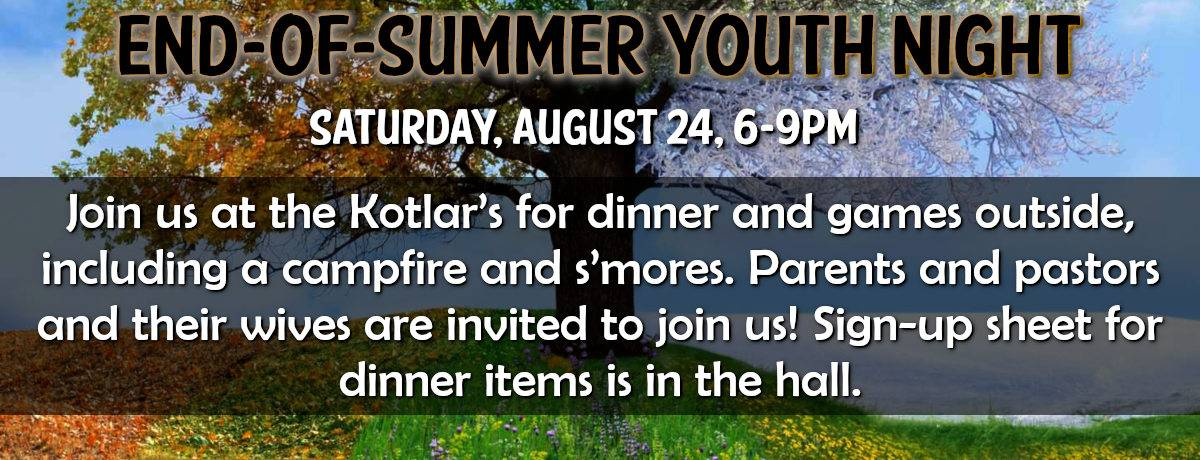 End of Summer Youth Night 2019